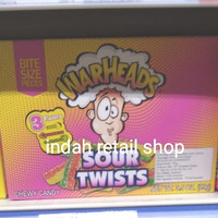 WARHEADS SOUR TWISTS CHEWY CANDY 99G
