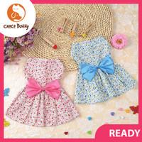 Baju Anjing Kucing Dress Bunga Pakaian Kostum Hewan Pet Clothes Flower
