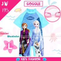 Baju Renang Swimwear Frozen with Goggle Kacamata