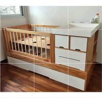 Tempat tidur Bayi Kayu jati | Box Tidur bayi | Box Tidur Bay kayu jati