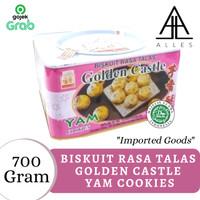 Biskuit Rasa Talas Kaleng / Golden Castle Yam Cookies 700 gram