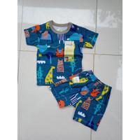 Baju Bayi | Baju Setelan tangan Pendek | Tee Merk Velvet 6 -12 Bulan