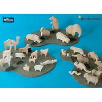 Land Animal Kingdom Full Set | paket puzzle kayu binatang darat