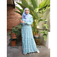Home Dress Gamis Khalina Fashion AINI Katun Rayon Toska L Cantik - L