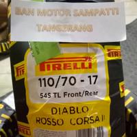 Ban Motor Pirelli Diablo Rosso Corsa II Uk. 110/70 Ring 17 Tubeless