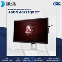 LED Monitor Gaming AOC AGON AG271QX 27 144Hz QHD HDMI Display Port