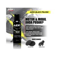 Cairan Poles Hitam Aero Black Polish 30 ml Penghitam Mobil Motor Body