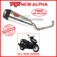 Original R9 Alpha All New Aerox Connected 2020 2021 ABS Knalpot Racing