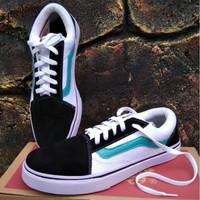 Sepatu Pria Wanita VANS Authentic Old Skool List Biru Sneakers Vans