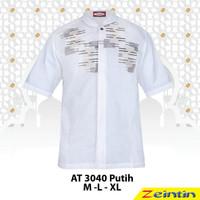 Baju Koko Pria Zeintin AT 3040 Putih