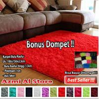 Karpet BuLu Rasfur 100x150x2.5cm - Merah