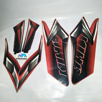 sticker striping yamaha Rx King 2008 merah