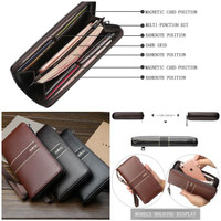 Dompet Panjang Pria Import Baellery Original Synthetic Leather