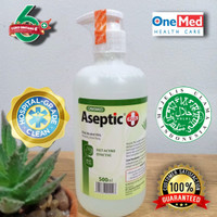 ONEMED ASEPTIC PLUS 500 ML FREE PUMP/HAND SANITIZER HOSPITAL GRADE