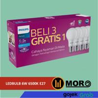 LAMPU PHILIPS LED 6W 8W 10W 12W BELI 3 GRATIS 1 PAKET ISI 4 PUTIH