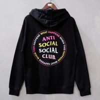ASSC Anti Social Social Club What Happened Hoodie Black - S