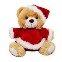 Boneka Natal Beruang Bear Baju Topi Santa Christmas