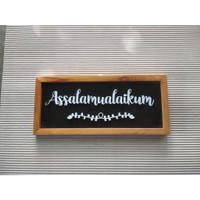Hiasan dinding Assalamualaikum kecil - pajangan walldecor tulisan