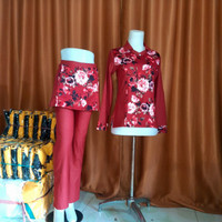 Setelan Baju Senam Muslim Batik Serie's ada BIG SIZE M-XXXL, AM-008