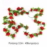 bunga mawar rambat mini artificial plastik palsu dekorasi