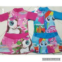 Baju Renang Diving Rok Remaja Karakter Unicorn/ LOL/ Little Pony - M