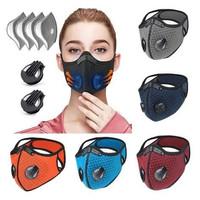 Masker Sport KN95 5Ply Exhalation Valves Active Carbon Filter Pm2.5