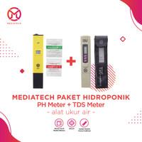 Paket Alat Ukur PH Meter Dan TDS Tester Digital Hidroponik - Akuarium