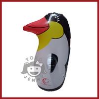 grosir balon tiup karakter pinguin hitam mainan anak-anak