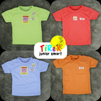(4pcs)BAJU BAYI Tirex Kaos Oblong Baby Atasan Perempuan Laki Cewek SNI