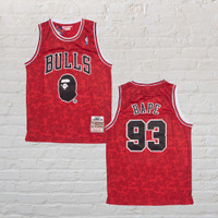 Baju Jersey Basket Classic NBA Chicago Bulls X BAPE Special Edition
