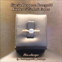 Cincin Rosegold Purpose Rosegold Kadar 75% Asli Emas