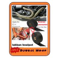 Lakban Peredam Anti Panas Knalpot Motor eceran / permeter Exhaust Wrap