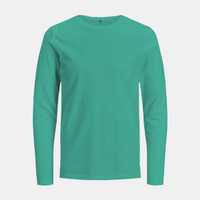 Blank T-shirt Long Sleeve Green Tosca (Kaos Polos Hijau Tosca Muda)