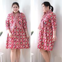 BM - Hyorin Batik Dress Jumbo Baju Wanita Imlek Chinese New Year CVE