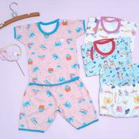 Baju Anak Bayi Setelan Pendek Little Q Pakaian Baby SNI Nyaman Lembut