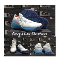 SEPATU BASKET UNDER ARMOUR CURRY 6 LOW CHRISTMAS PREMIUM BOX ORIGINAL