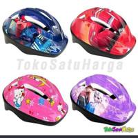 Helm sepeda anak karakter kids helmet gowes aksesoris mainan olahraga