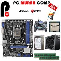 Paket Mainbaord Lengkap LGA 1155 H61 ASROCK Dengan Processor G2030