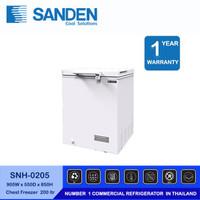 Sanden Intercool Freezer Box SNH-0205 1 Pintu kapasitas 200 Liter
