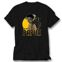 Kaos Baju Combed 30S Distro THE AMAZiNG PAPUA polos custom indonesia