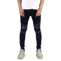A1 Biker Batik Black - Celana Jeans