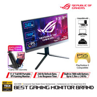 ASUS ROG Strix XG17AHP Portable Gaming Monitor 17.3 with ROG Tripod