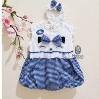 PK0035 - Kotak2 Kucing,Baju Bayi Perempuan 0 - 12 bulan Murah & cantik