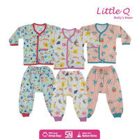 Baju Anak Bayi Lengan Panjang Little Q Pakaian Baby SNI Lembut Nyaman - S