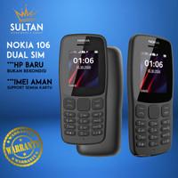 HP HANDPHONE NOKIA 106 2018 JADUL BARU NEW DUAL SIM TERMURAH MURAH - Hitam