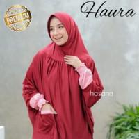Hijab Jilbab syar'i kerudung Tangan Lengan & Saku Haura bahan zoya