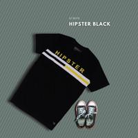 HIPSTER T-Shirt Kaos Stripe Black