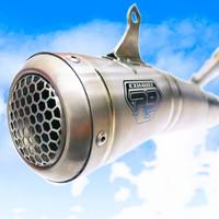 Knalpot R9 GP Titanium R25 MT25 Full System Origi no prospeed proliner