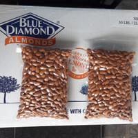 kacang almond mentah(raw)blue diamond 1kg