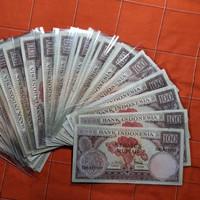 Uang kuno 100 rupiah seri bunga th 1959